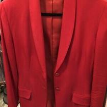 Armani Ladies Red Silk Blazer. Size 8. New. Photo