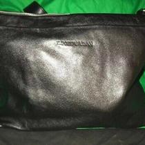 Armani Messenger Brief  Case Calfskin Black Leather Bag Rt 815 Sale  Photo