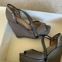 Armani  Platform Shoes With Patent Leather Trim New Never Worn Size 40 Us 9 Photo