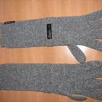 Armani Wool Long Gloves Authetic Grey Color  Photo