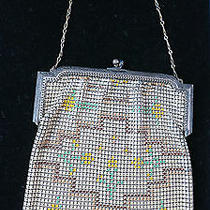 Art Deco Patterned Mesh Purse by Whiting & Davis Photo