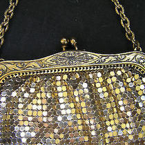 Art Deco Whiting  & Davis Gold Tone Purse Made in Usa Photo