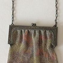Art Deco Whiting & Davis Painted Fine Mesh Purse Handbag Vintage Flapper Era Photo