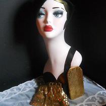 Art Deco Whiting & Davis Purse & Eye Glass Case Gold Mesh Photo