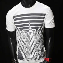 Art Stripes Abstract Hipster Express Mma Ufc Urban T-Shirt Men New White S Photo