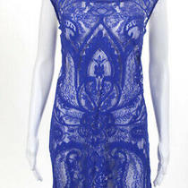 Artelier Nicole Miller Blue Ocean View Sheath Dress 245 Size Large 10215596 Photo