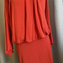 Artellier Nicole Miller Orange Dress Size Small Photo