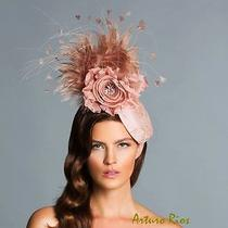 Arturo Rios Blush Fascinator Kentucky Derby Fascinator Melbourne Cup Hats Photo
