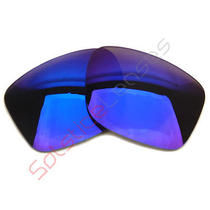 As Is - Deep Blue Purple Sl Replacement Lenses for Oakley Fuel Cell Sunglasses Photo
