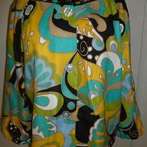 Ashley Stewart Retro Short Boxy Jacket Top Blouse 16w Aqua Yellow....fabulous Photo