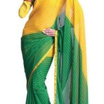 Asian Ethnic Cultural and Treditional Fancy Color Casual Wear Saree Sari 2859 Photo