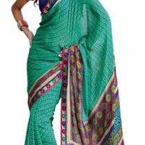 Asian Ethnic Cultural and Treditional Fancy Color Casual Wear Saree Sari 2850 Photo