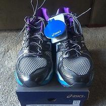 Asic Nimbus 14 Women's Running Shoes Size 10 Lightning and Electric Blue - New Photo