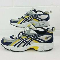 Asics 140 Gel Duo Max Running Shoes Men's Size 11.5 White Blue Gold Yello Yellow Photo