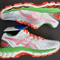Asics 5 Gel Nimbus 17 Sneakers New Womens Running Neutral Tri Coral Green Shoes Photo