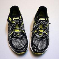 Asics Black Neon Green Low Top Running/walking/athletic Shoes Mens sz(10.5)1798 Photo