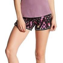 Asics Black Purple Women's Size Xs Checker Everysport Athletic Shorts 40 543 Photo