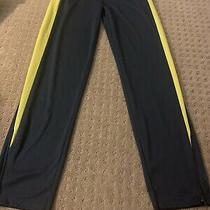 Asics Boys 14/16  Large Track Pants Blue/yellow Photo