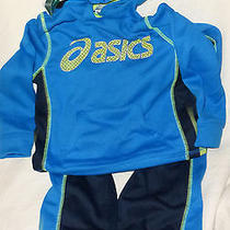Asics Boys' 2-Piece Pant and Zip Up Hoodie Set-Blue Size 7 Photo