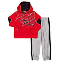 Asics Boys' 2-Piece Pant Set-Red Photo