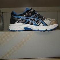 Asics Boys' Pre-Contend 4 Ps Running Shoe Silver/classic Blue/black 1 M... Photo