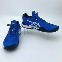 Asics Court Ff Novak Djokovic Tennis Shoes Men Size 10.5 Blue Athletic 1041a089  Photo