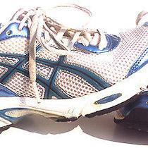 Asics Cumulus 9 Womens Gel Igs Size 7.5 Running Shoes White Blue Marathon Race Photo