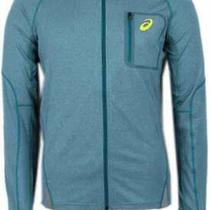 Asics Fujitrail Hoodie Mens   Athletic  Jacket Lightweight - Blue Photo