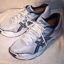 Asics Gel-180tr Womans Running Shoes White/navy/silver Size 9.5 -  S352n Photo