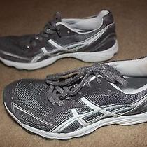 Asics Gel Arianna T178n Sz 8 Women's Running Shoes Silver Glitter White Worn 2x Photo