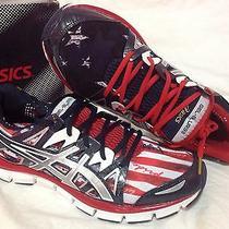 Asics Gel-Blur33 2.0 Usa Flag Women's Running Athletic Sneakers Size 11 Rare Photo