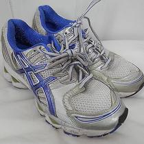 Asics Gel Cumulus 12 Running Shoes Royal Blue Silver Womens Us Size 8 Photo