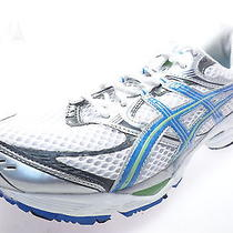 Asics Gel Cumulus 12 Running Womens Shoes T0a6n White/blue/green Size 10.5 M Photo