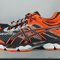 Asics Gel Cumulus 15 Lite Show Running Shoes Black Flash Orange Mens Sz 11.5 New Photo
