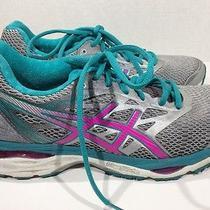 Asics Gel Cumulus 17 Womens Size 9 Gray / Aqua / Pink Running Shoes Ze-858 Photo
