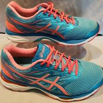 Asics Gel-Cumulus 18 Blue/orange Athletic Running Shoe Sneaker Women's Size 10.5 Photo
