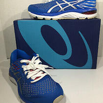 Asics Gel Cumulus 21 Womens Sz 7.5 Blue White Athletic Running Shoes Zd-235 Photo