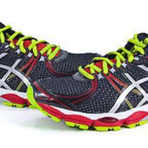 Asics Gel-Evate Mens Black Lightening Red Athletic Training Shoes 8 New Photo