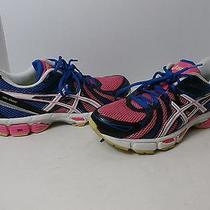 Asics Gel-Exalt Womens Sz 8.5 B Blue White Pink Running Shoes Photo