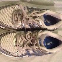 Asics Gel Express 3 Women's White Silver Blue Fitness Shoes Us 7 Eur 38 S068n Photo