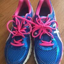 Asics Gel-Flux 2 Running Shoes Women's Size 9.5 Blue Pink White T568n Photo