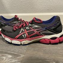 Asics Gel Flux 2 Size 8.5 Women's Athletic Running Shoes Gray Pink Blue T568n Photo