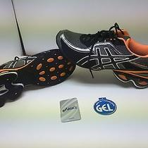 Asics Gel Frantic Black and Orange Size 12 Photo