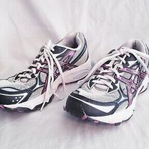 Asics Gel Galaxy 5 Womens Size 7 White Black Berry Running Shoes Sneakers T281n Photo