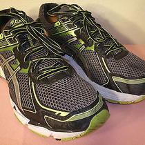 Asics Gel Gt-1000  Men's Black and Green Running Shoes U.s. Size 14 / Eur 49 Photo