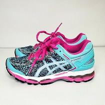 Asics Gel Hayana Women's Size 6.5 Teal Green and Pink Running Shoe T5a6n Photo