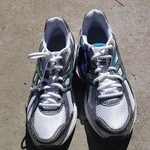 Asics Gel Kanbarra Womens Size 8.5  White Grey Turquoise Running Shoes Nwt Photo