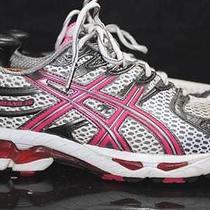 Asics Gel Kayano 16 Womens Sz 9 Grey/white/pink Mesh Athletic Running Shoes Rl Photo
