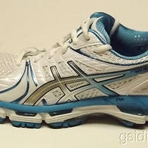 Asics Gel-Kayano 18 Womens Running Shoes Size 10.5 M White Aqua (Cls) Photo