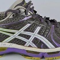 Asics Gel Kayano 18 Womens Running Shoes Size 10 Neon Purple Gray Athletic T2c9n Photo